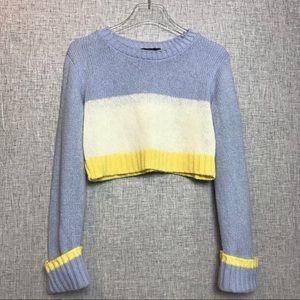 Boohoo crop top pastel sweater